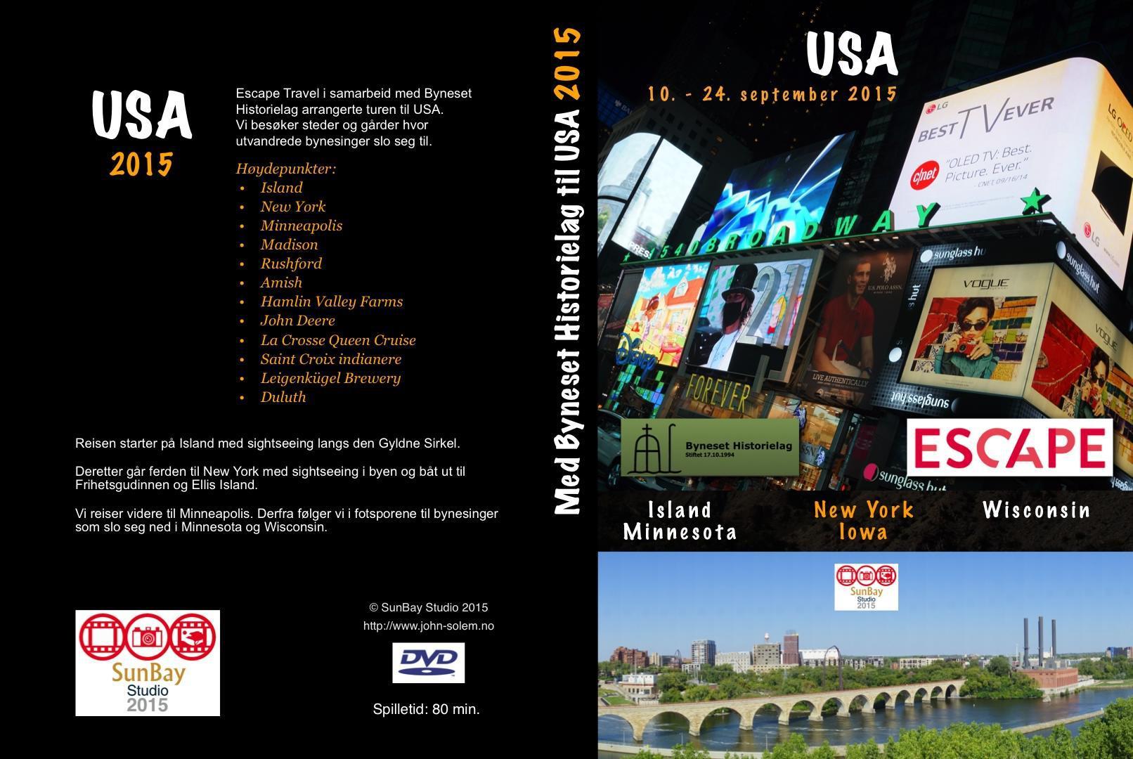 DVD fra USA-tur i salg