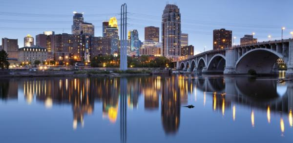 Skyline i Minneapolis
